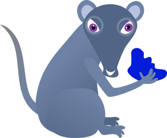 dibujo de raton malo