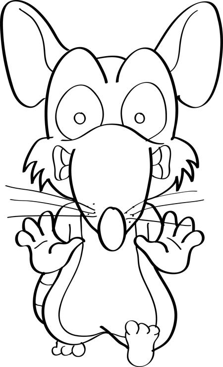 raton asustado