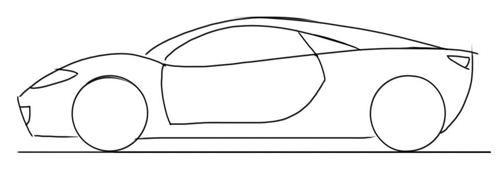 dibujo de un coche para colorear