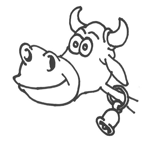 vacas dibujos