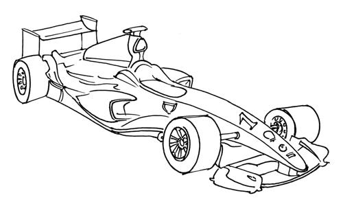 dibujos animados de carreras de coches