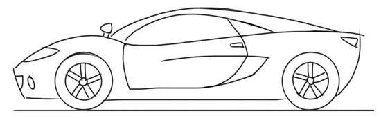 dibujos de coches clasicos