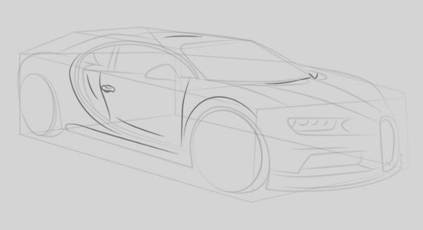 los dibujos a lápiz de coche