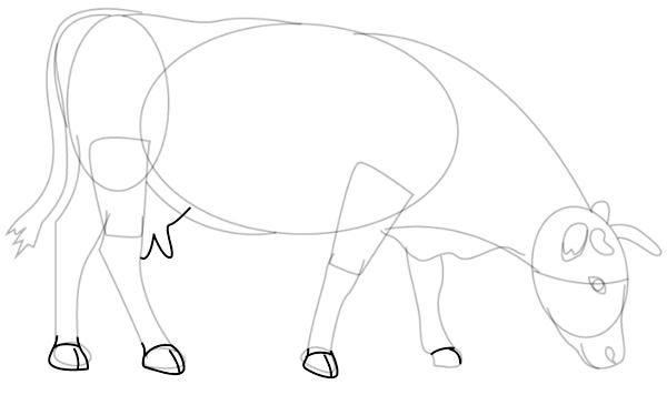 los dibujos de vacas para colorear