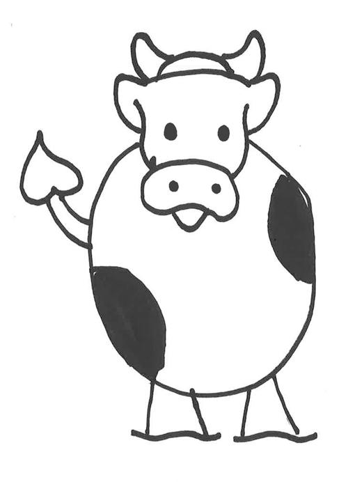 dibujos de vacas fáciles