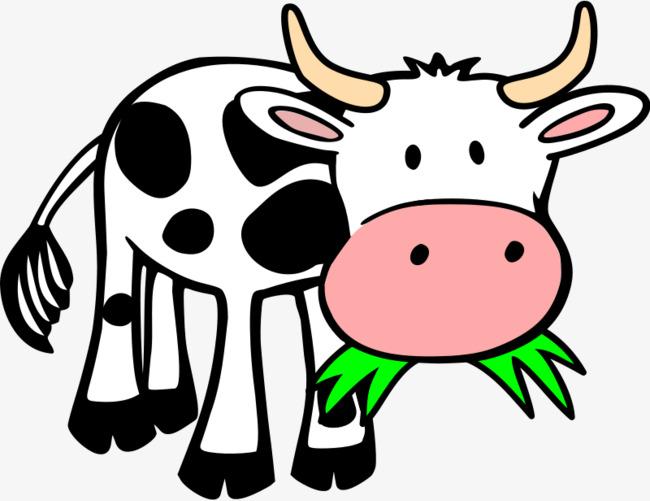 vaca comiendo pasto