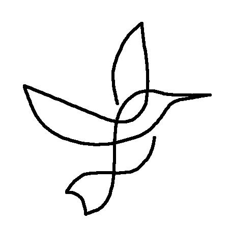 dibujo de un pajaro facil