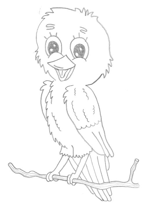 Dibujos de pájaros - Imágenes de pájaros para colorear