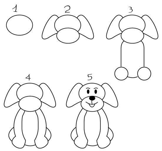 Dibujos De Perros Como Dibujar Un Perro Facil Imagenes De Perros