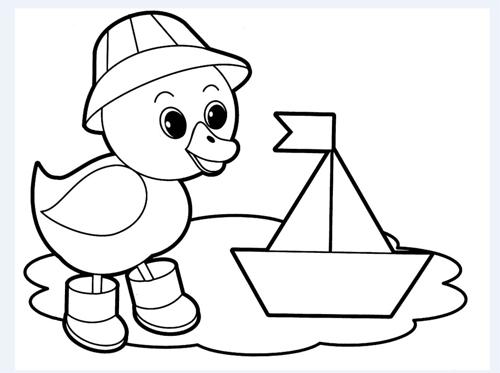pato de dibujo animado