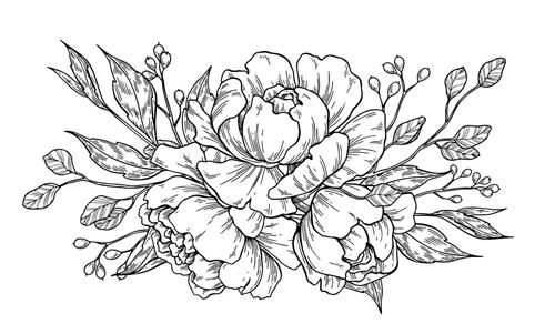 haciendo flores con lapiz