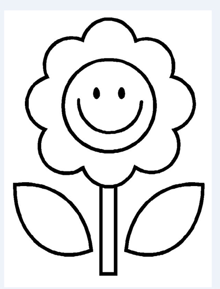 dibujos con flores para imprimir