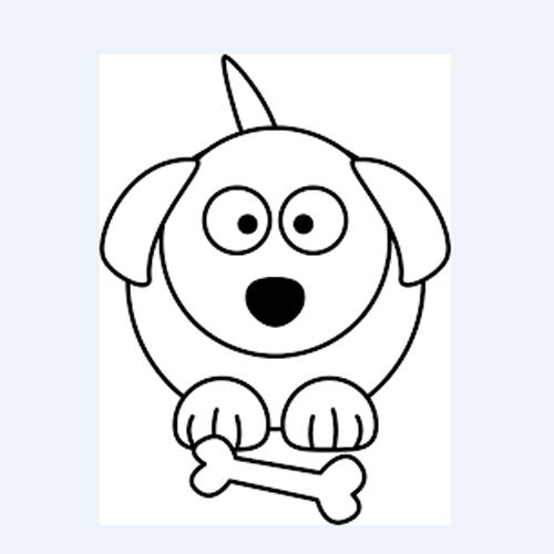 dibujo de perros para imprimir