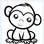 dibujos de monos para imprimir