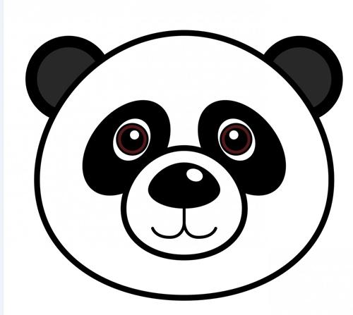 oso panda de dibujo para imprimir