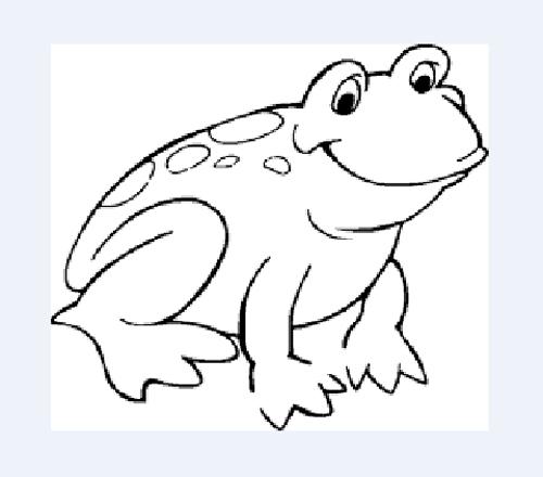 dibujo de rana para imprimir y colorear
