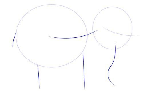 dibujar un elefante facil