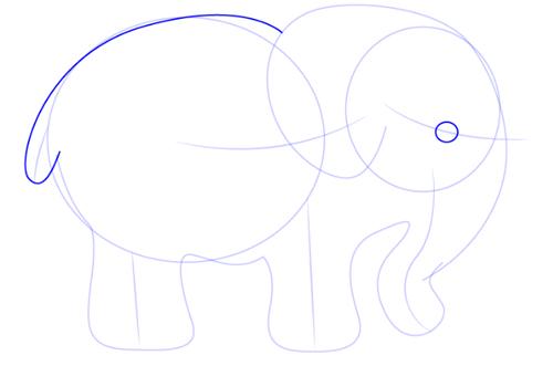 dibujo elefante bebe