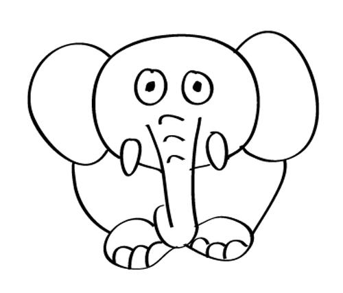 elefante bebe dibujo