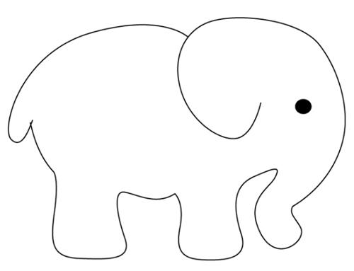 Dibujo Elefante Para Colorear E Imprimir: Elefante Dibujo Fácil Para Niños