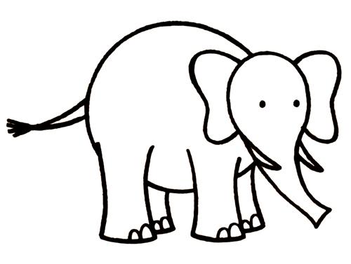 aprender a dibujar y colorear elefantes