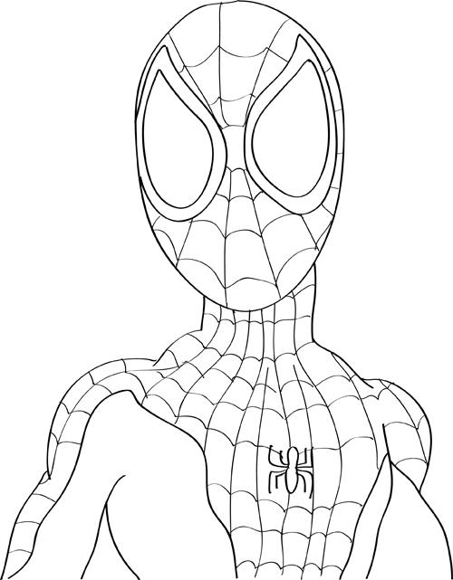 colorear hombre araña
