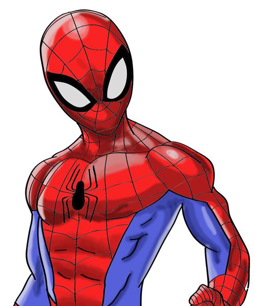 lindo dibujo del hombre araña