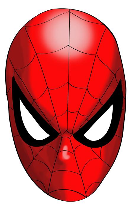 cara coloreada del hombre araña