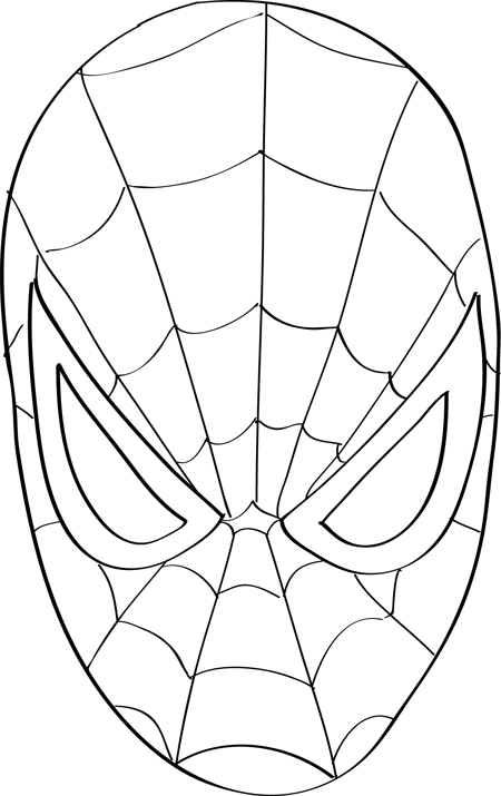 cara de spiderman sin color