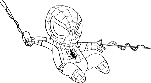 pintar dibujos de spiderman