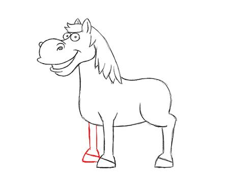 cara de caballo dibujo