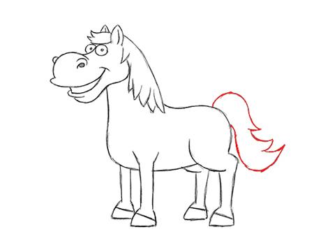 dibujos caballos a color