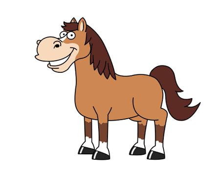 dibujos de caballos saltando para colorear