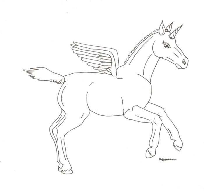 caballos con alas