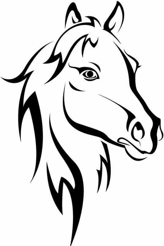 lindos dibujos de caballos a tinta