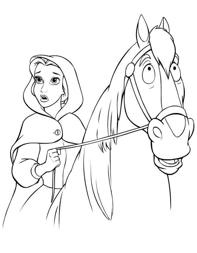 dibujos de caballos disney