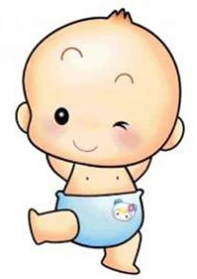 dibujos de bebes gateando