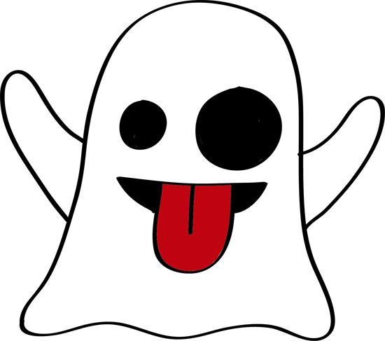 fantasma saca la lengua