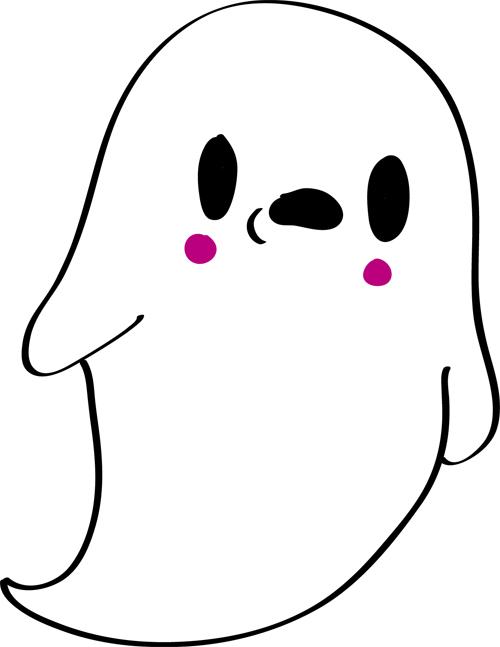 dibujos sencillos de fantasma