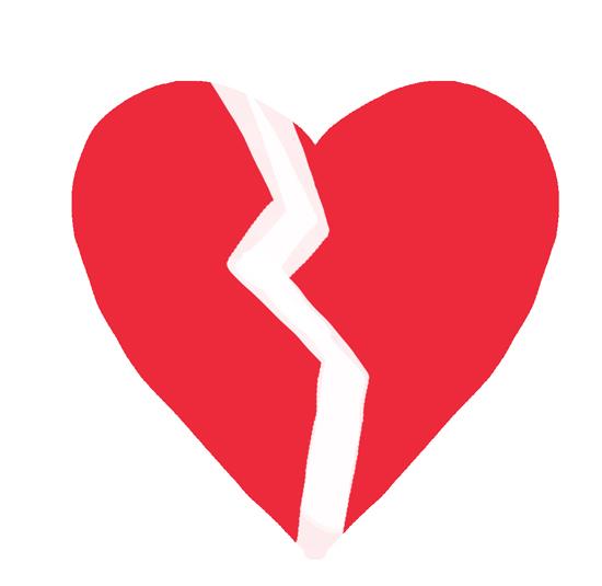 dibujos de corazones rotos