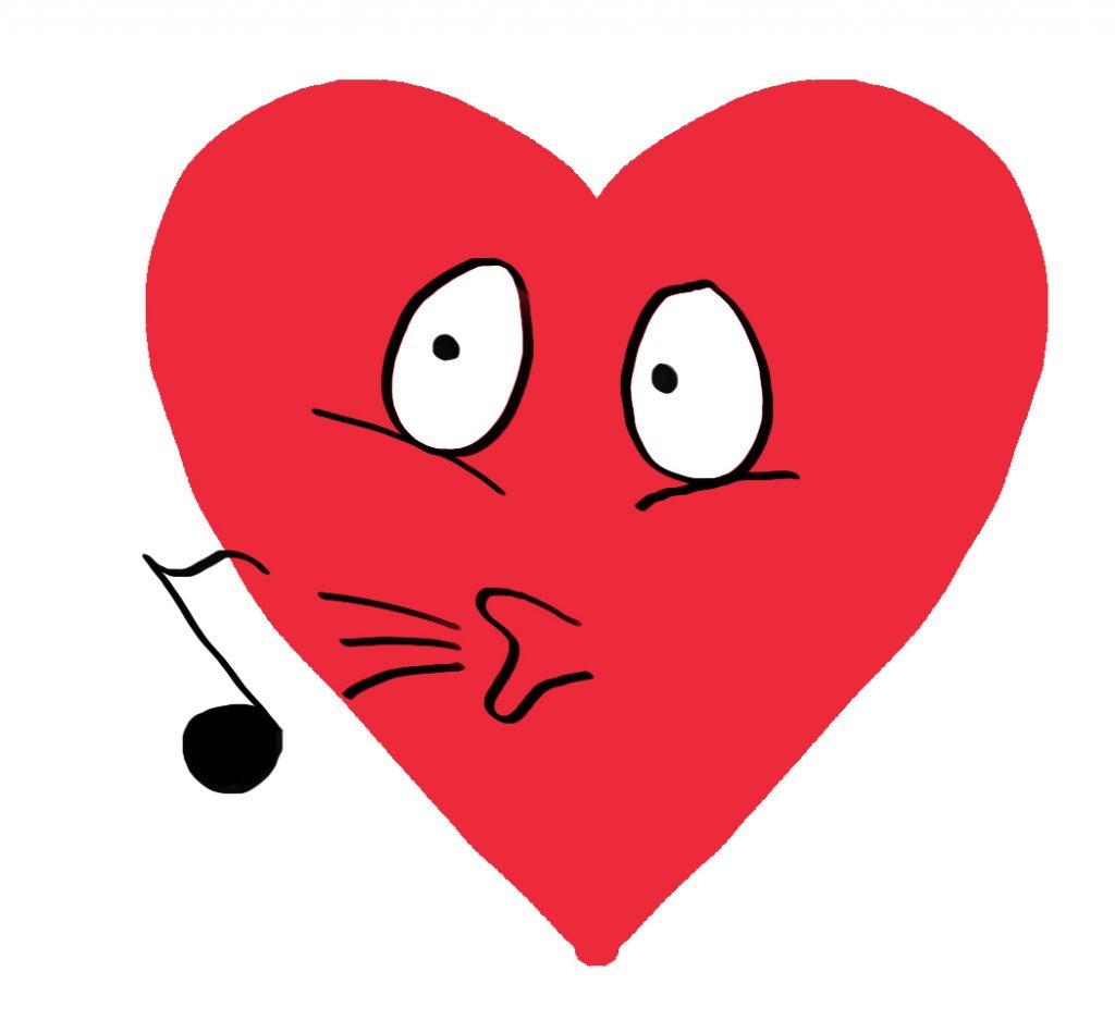 dibujos grandes de corazones