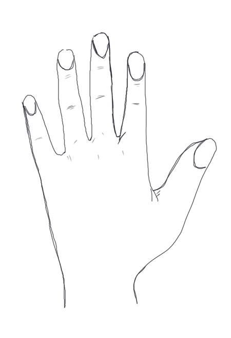 manos con dibujos de lapiz