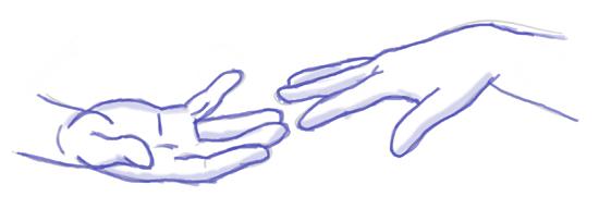 manos del cuadro