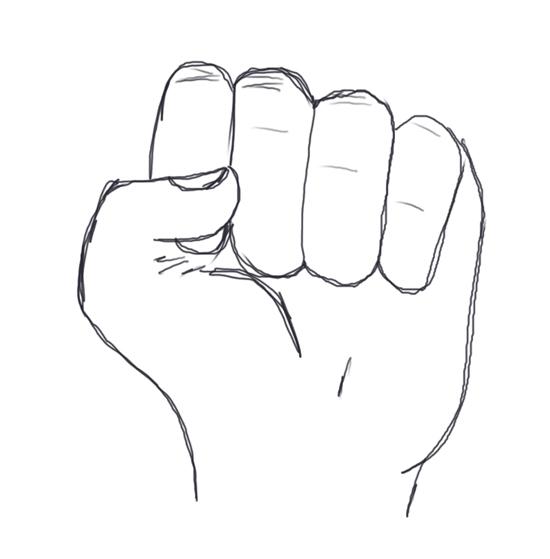 manos entrelazadas dibujo