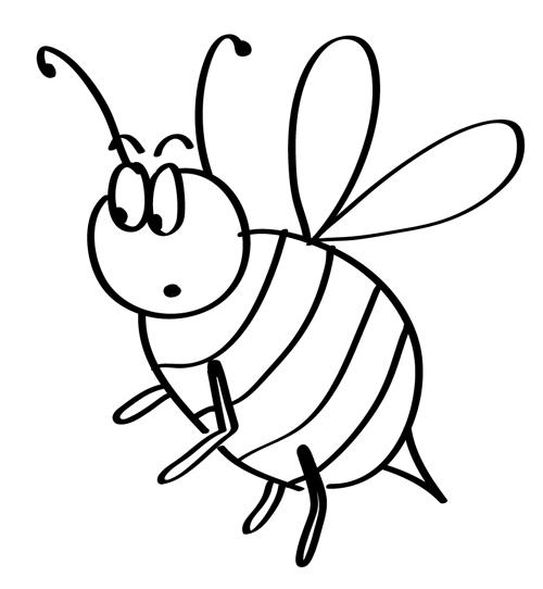 abeja dibujada