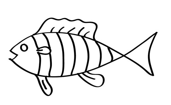 dibujo para bebe de pez