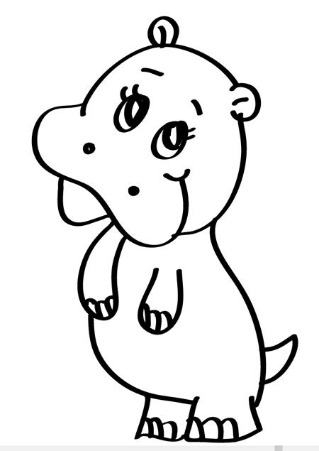 dibujo de hipopotamo