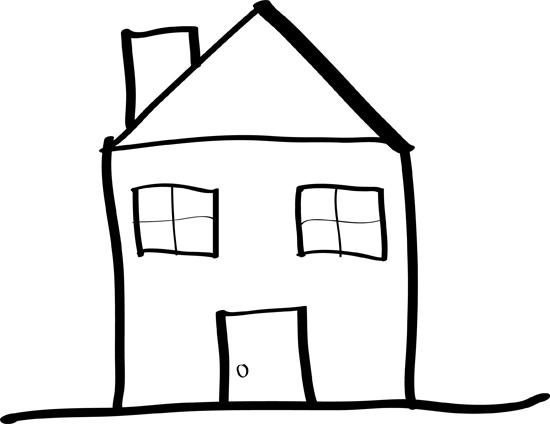 casas de dibujos para colorear