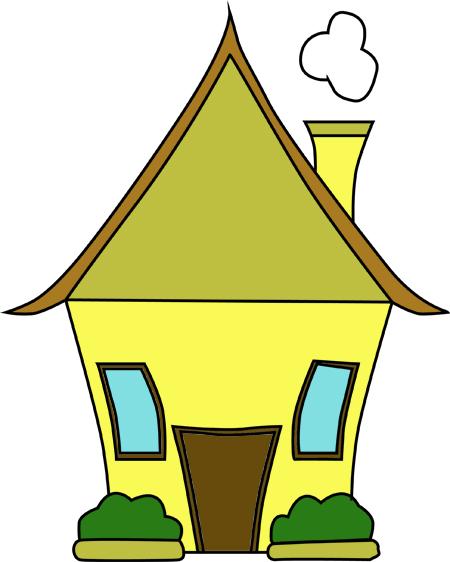 dibujo de casas con jardin para colorear