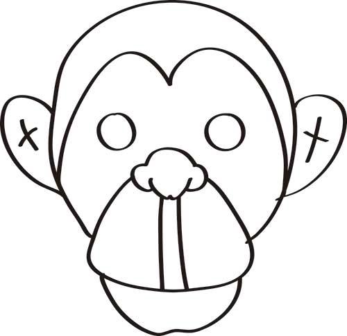 dibujos-de-animales-monos-a-colorear